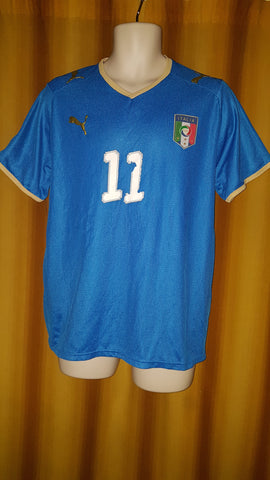 2008-09 Italy Home Shirt Size Medium - G. Rossi #11
