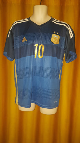 2013-14 Argentina Away Shirt Size Medium - Messi #10