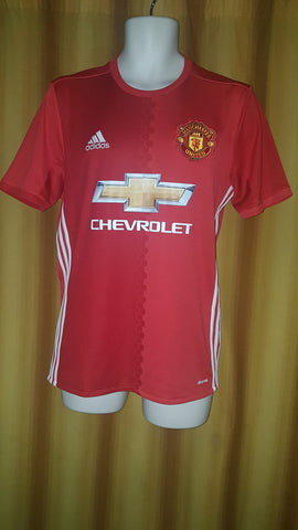 2016-17 Manchester United Home Shirt Size Small - Pogba #6