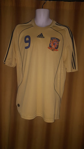 2007-09 Spain Away Shirt Size Large - Torres #9