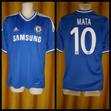 2013-14 Chelsea Home Shirt Size Medium - Mata #10 - Forever Football Shirts