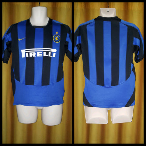 2003-04 Inter Milan Home Shirt Size XL Boys - Forever Football Shirts