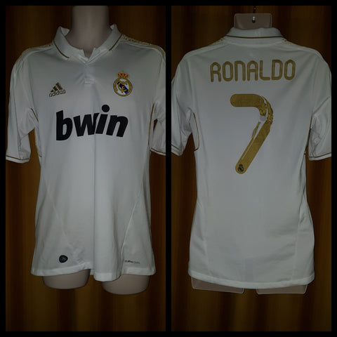 low priced 82073 810a5 2011-12 Real Madrid Home Shirt Size Medium - Ronaldo #7 ...