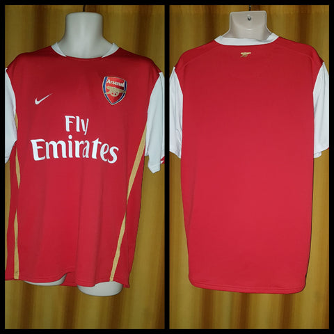 2006-08 Arsenal Home Shirt Size Large - Forever Football Shirts