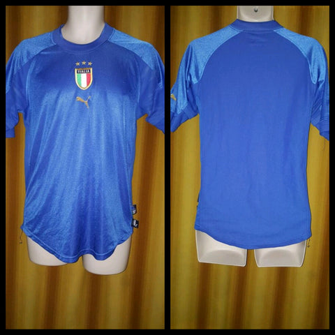 2004-05 Italy Home Shirt Size Small - Forever Football Shirts