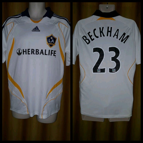 2007-08 LA Galaxy Home Shirt Size Medium - Beckham #23 - Forever Football Shirts