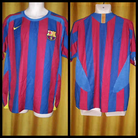 2005-06 Barcelona Home Shirt Size Medium