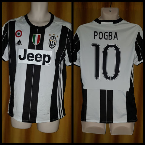 2016-17 Juventus Home Shirt Size Small - Pogba #10 - Forever Football Shirts
