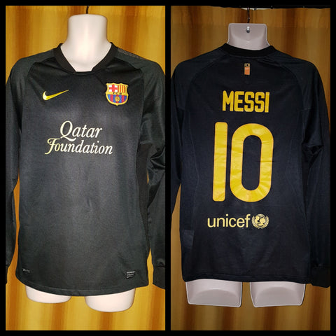 2011-12 Barcelona Away Shirt Size Small (Long Sleeve) - Messi #10 - Forever Football Shirts