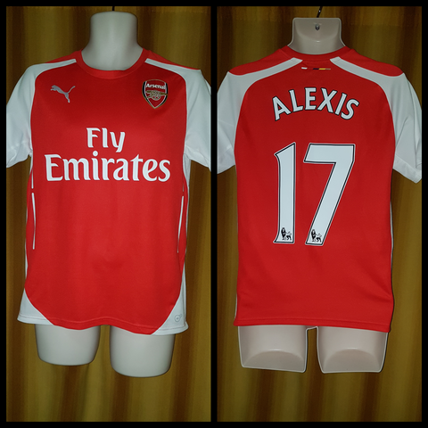 2014-15 Arsenal Home Shirt Size Small – Alexis #17
