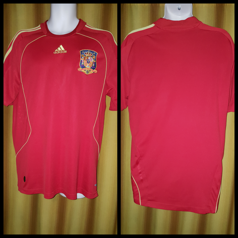 2007-09 Spain Home Shirt Size Large