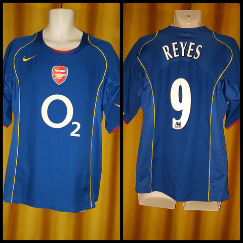 2004-05 Arsenal Home Shirt Size Large - Reyes #9 - Forever Football Shirts