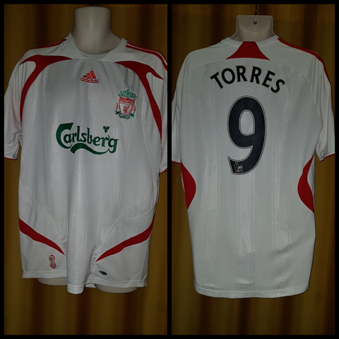 2007-08 Liverpool Away Shirt Size Large - Torres #9