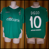 2007-08 Werder Bremen Home Shirt Size Medium - Diego #10