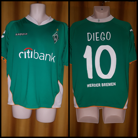 2007-08 Werder Bremen Home Shirt Size Medium - Diego #10 - Forever Football Shirts