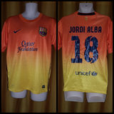 2012-13 Barcelona Away Shirt Size Medium – Jordi Alba #18 - Forever Football Shirts