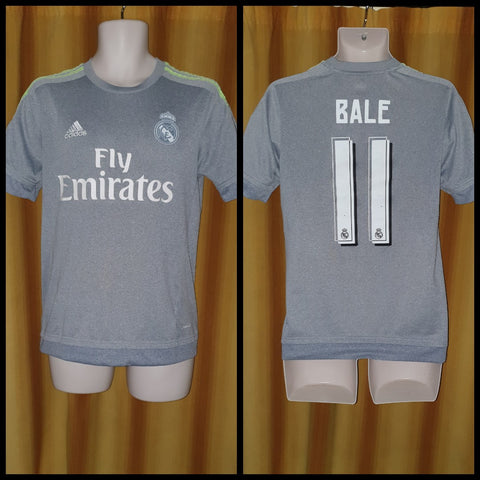 2015-16 Real Madrid Away Shirt Size Small - Bale #11