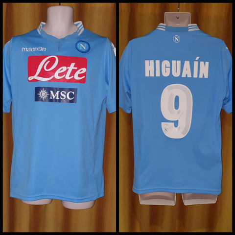 2013-14 Napoli Home Shirt Size Medium - Higuain #9