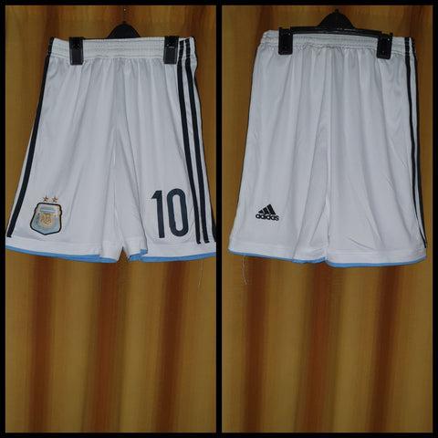 2013-14 Argentina Home Shorts Size Small - #10