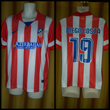 2013-14 Atletico Madrid Home Shirt Size Small - Diego Costa #19 - Forever Football Shirts