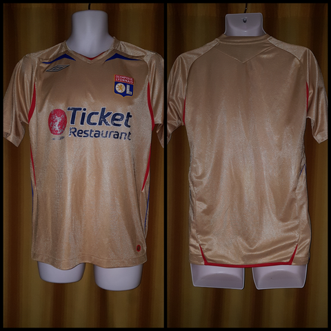 2007-08 Olympique Lyonnais Away Shirt Size Small