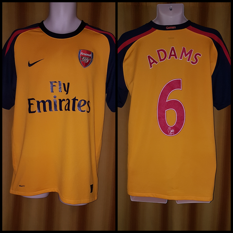 2008-09 Arsenal Away Shirt Size Medium - Adams #6 - Forever Football Shirts