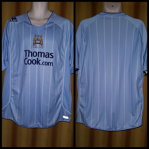 2007-08 Manchester City Home Shirt Size XXL - Forever Football Shirts
