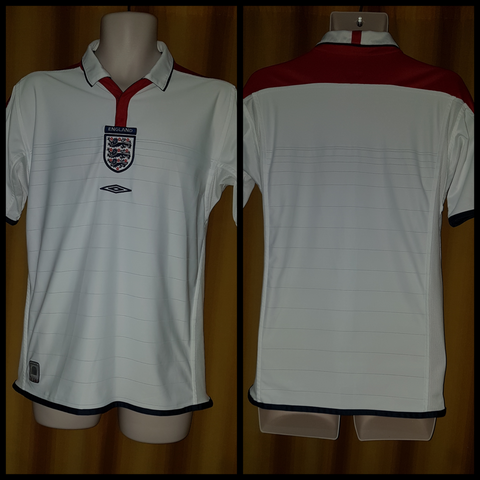 2003-04 England Home Shirt Size Small - Forever Football Shirts
