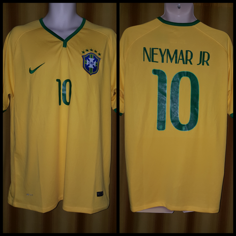 2014-15 Brazil Home Shirt Size XL - Neymar Jr #10 (BNWT)