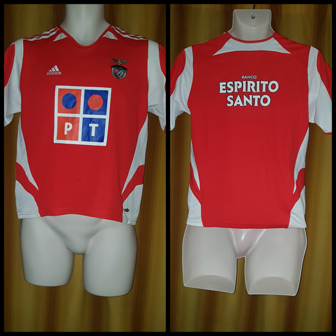 2005-06 Benfica Home Shirt Size Large Boys