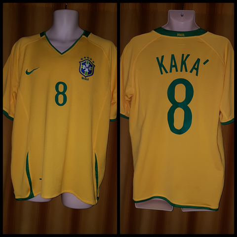 2007-09 Brazil Home Shirt Size XL - Kaka #8