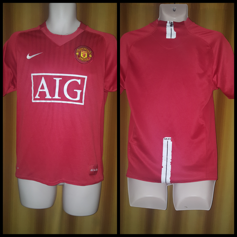 2007-09 Manchester United Home Shirt Size Small - Forever Football Shirts