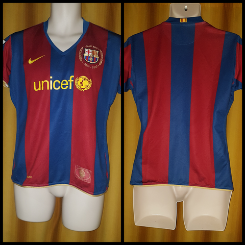 2007-08 Barcelona Home Shirt Size XL Boys