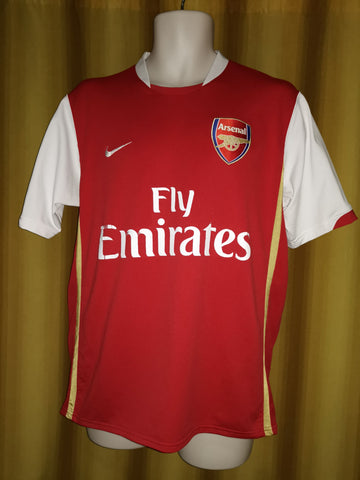 98b22a0395f 2006-08 Arsenal Home Shirt Size Medium - Fabregas  4 – Forever ...