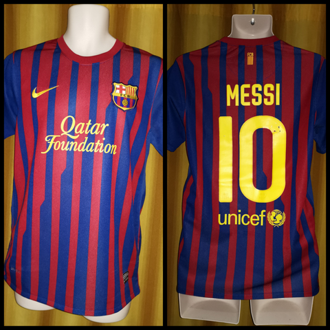 2011-12 Barcelona Home Shirt Size Small - Messi #10