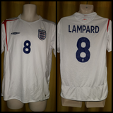 2005-06 England Home Shirt Size Medium - Lampard #8