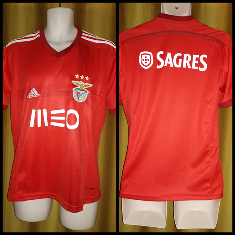 2014-15 Benfica Home Shirt Size Small - Forever Football Shirts