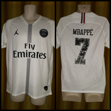 2018-19 Paris Saint Germain Champions League Away Shirt Size Medium - Mbappe #7