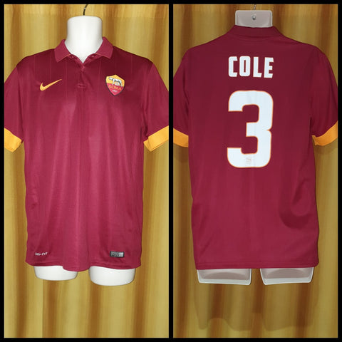 2014-15 AS Roma Home Shirt Size Medium - Cole #3