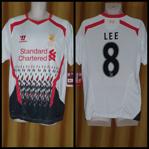 2013-14 Liverpool Away Shirt Size Medium- Lee #8