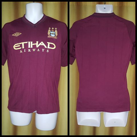 2012-13 Manchester City Away Shirt Size 38 - Forever Football Shirts