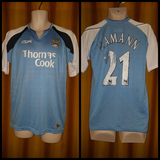 2006-07 Manchester City Home Shirt Size Medium - Hamman #21 - Forever Football Shirts