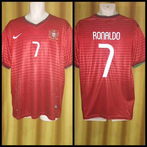 2014-15 Portugal Home Shirt Size XL - Ronaldo #7