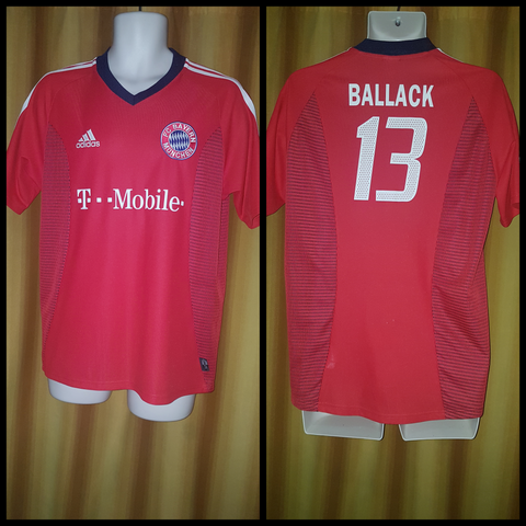 2002-03 Bayern Munich Champions League Shirt Size Large - Ballack #13 - Forever Football Shirts