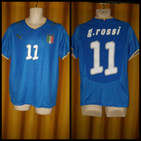 2008-09 Italy Home Shirt Size Medium - G. Rossi #11 - Forever Football Shirts