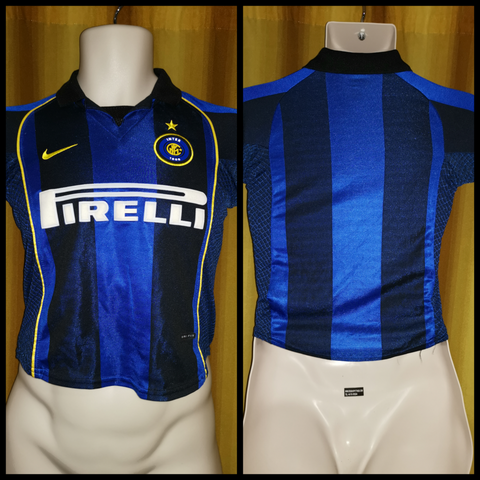 2001-02 Inter Milan Home Shirt Size Child Small (8 Years Old) - Forever Football Shirts