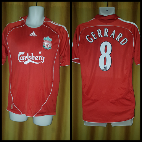 2006-08 Liverpool Home Shirt Size Medium - Gerrard #8