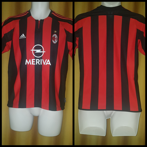 2003-04 AC Milan Home Shirt Size XL Boys