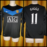 2009-10 Manchester United Away Shirt Size Small (Long Sleeve) - Giggs #11