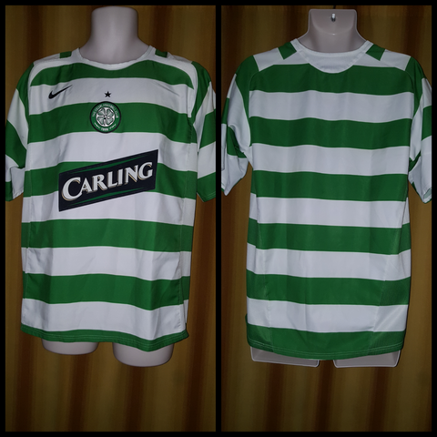2005-07 Celtic Home Shirt Size Medium - Forever Football Shirts